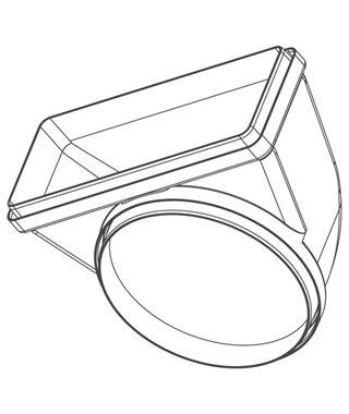 Колено с переходником с круга на прямоугольник Falmec KACL.371
