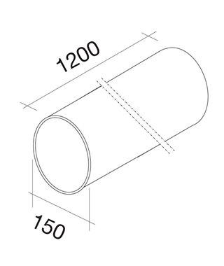 Жесткая круглая труба Falmec KACL.358