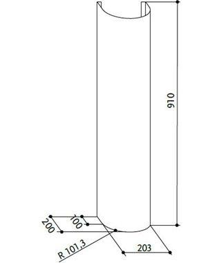 Короб Faber X H910 RONDA/CONICA