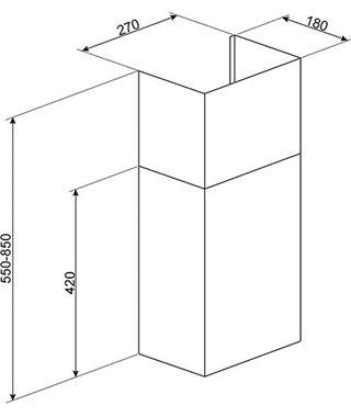 Декоративный короб для вытяжек Smeg KITCMNDSBL