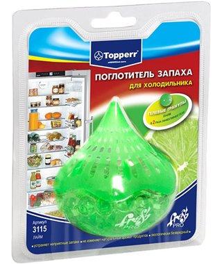 Поглотитель запаха для холодильника Topperr 3115, Лайм