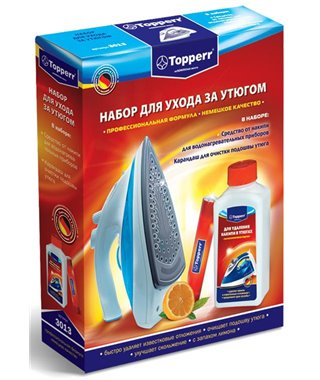 Набор для ухода за утюгами Topperr 3013